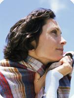 Biolgical Age Woman Looks Forward