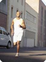 Fitness level running man