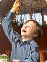 Kids - eating healthy food