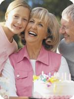 Grandma celebrates biological age with family