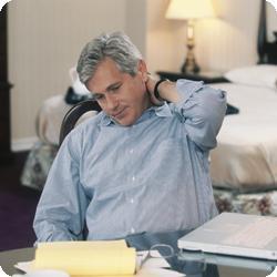 Man stressful at work