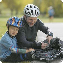 Father helps improve biological age with son