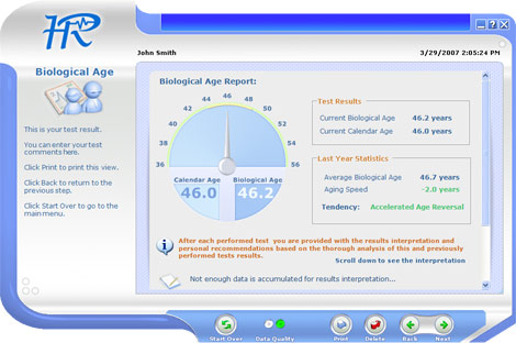 Biological Age Test Report