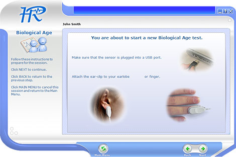 Biological Age Test Setup