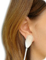 Attach ear-clip on your earlobe or a finger